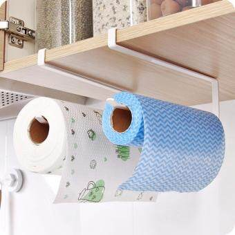 Practical Kitchen toilet paper towel rack paper towel roll holderCabinet hanging shelf organizer bathroom kitchen accessories