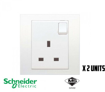 SCHNEIDER C-VIVACE 1 GANG SWITCHED 13A (2 Units)