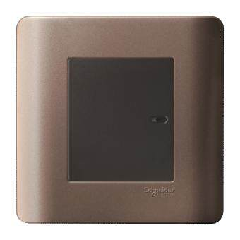 Schneider ZENcelo 16AX/20A 1 Gang 1 Way Full-Flat Switch with Ondicator Silver Bronze E8431-1 SZ