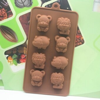 Silicone cake mold chocolate handmade Silicone DIY animal Shape Mold Cake