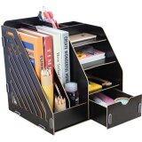 SOKANO 1034 DIY Wooden Premium Desk Organizer- Black