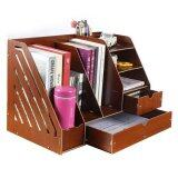 SOKANO 1034A DIY Multifunctional Desk Organizer- Dark Brown