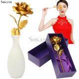 SOKANO 24K Gold Foil Flower Best Gift Valentine Day Mother Day- Rose (With Cert and Gift Box)
