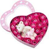 SOKANO Cutie Bear Window 1871 With 20 PCs Flower Soap- Pink