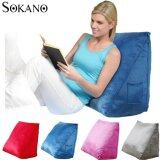 SOKANO Extra Large Ergonomic Back Support Bed Stand Up Wedges Pillow- Blue
