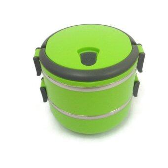 Stainless Steel Thermal lnsulation Lunch Box 2 Layers (Green)