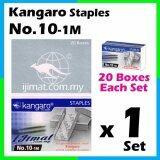 Stapler Bullet Kangaro Staple Staples No.10 / Kangaro NO.10-1m Size normal Stapler Bullet / Dawai Kokot / Ubat Stapler (20boxes Each Set) I JIMAT