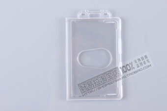 Transparent badge work card tag protective case hard card sets