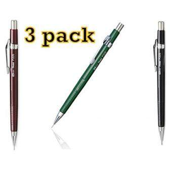Value Pack of 3 Pentel Sharp Automatic Pencil, 0.5mm, Black, Burdy, Green Barrels, 3 Pack (P205) by Pentel