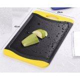 Zeco Bamboo Charcoal Cutting / Chopping Board - Large (Yellow/Black)