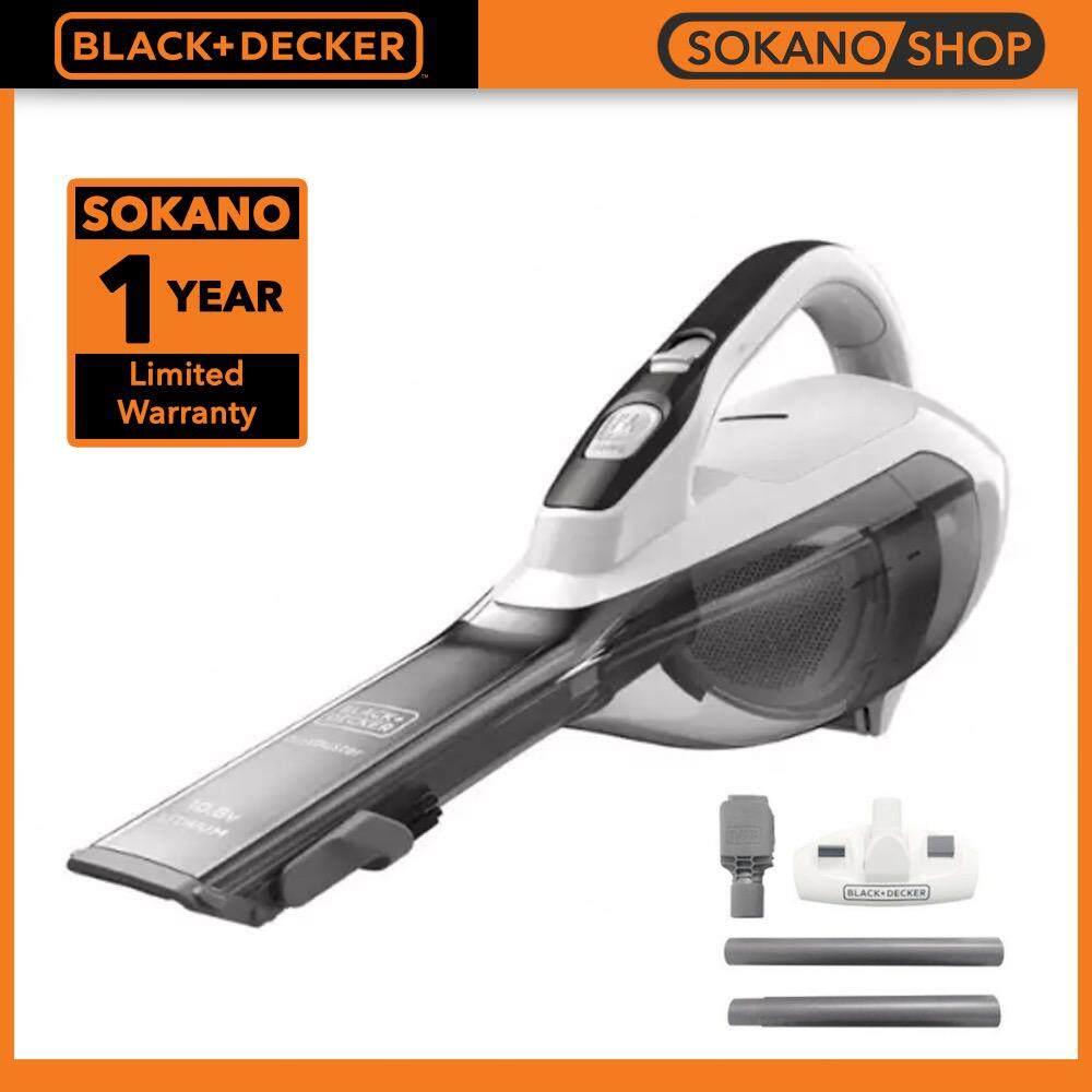 BLACK + DECKER DVA315JF Cordless Lithium Hand Vacuum With Floor Head Extension 10.8W