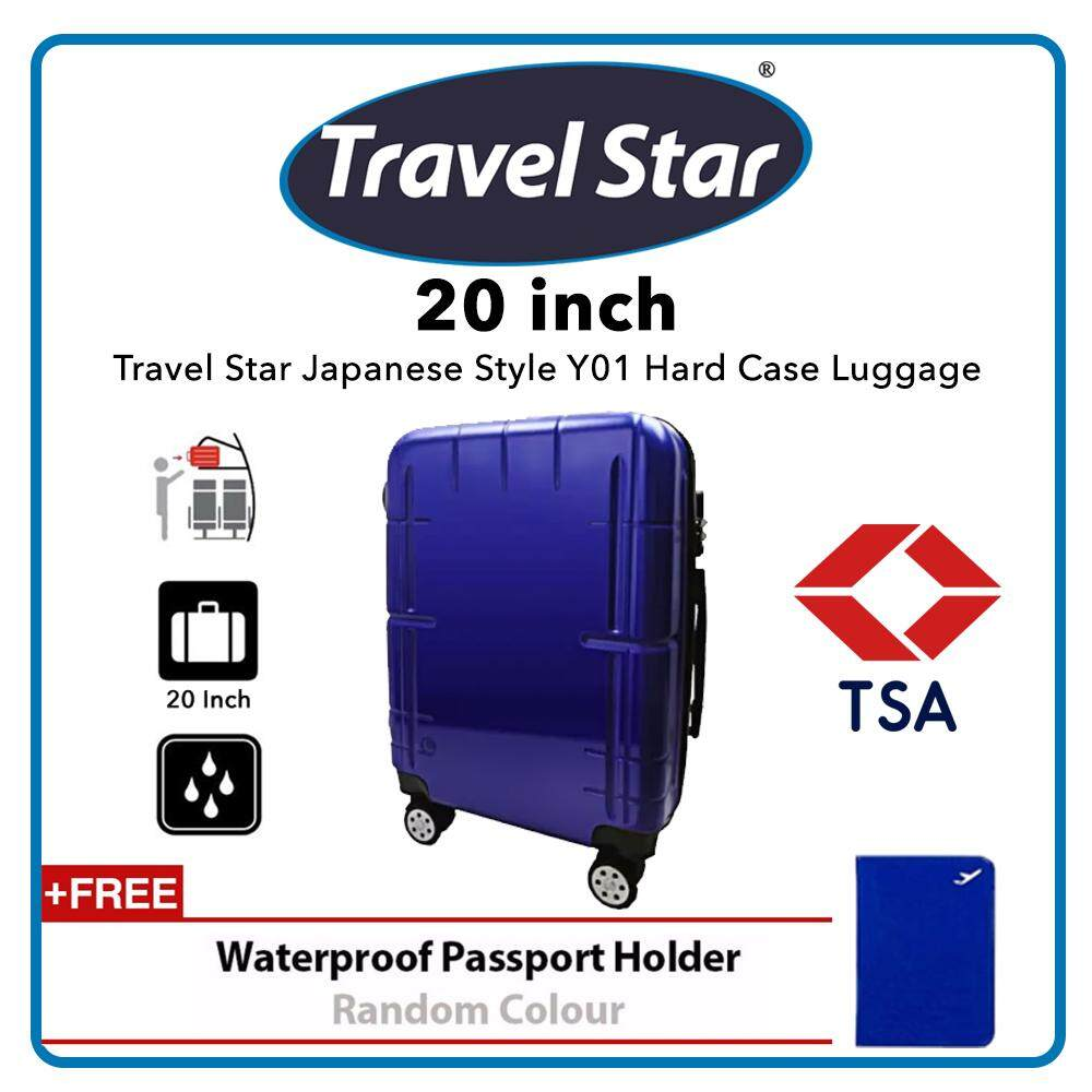 Travel Star Japanese Style Y01 20 Inches Hard Case Luggage Bagasi TSA - Midnight Blue