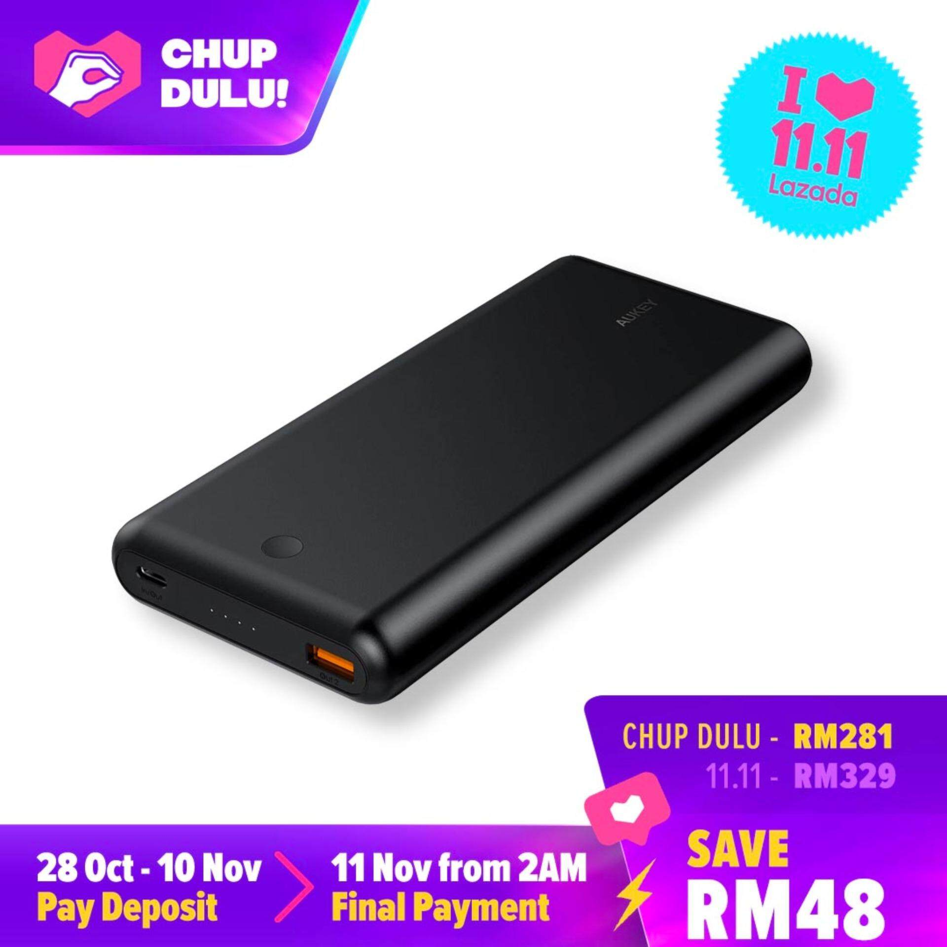 Aukey PB-XD26 63W 26800mAh Power Delivery 3.0 USB C Power Bank With QC 3.0