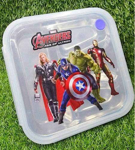 Cartoon Stainless Steel Lunch Box (BGJAYA)-The Avengers
