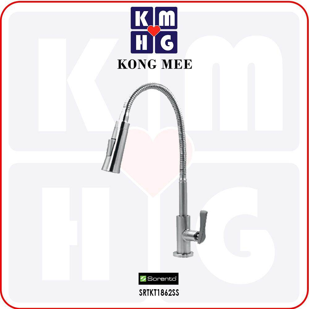Sorento Italy - High Quality G304 Stainless Steel Flexible Pillar  Mounted Kitchen Tap (SRTKT1862SS)