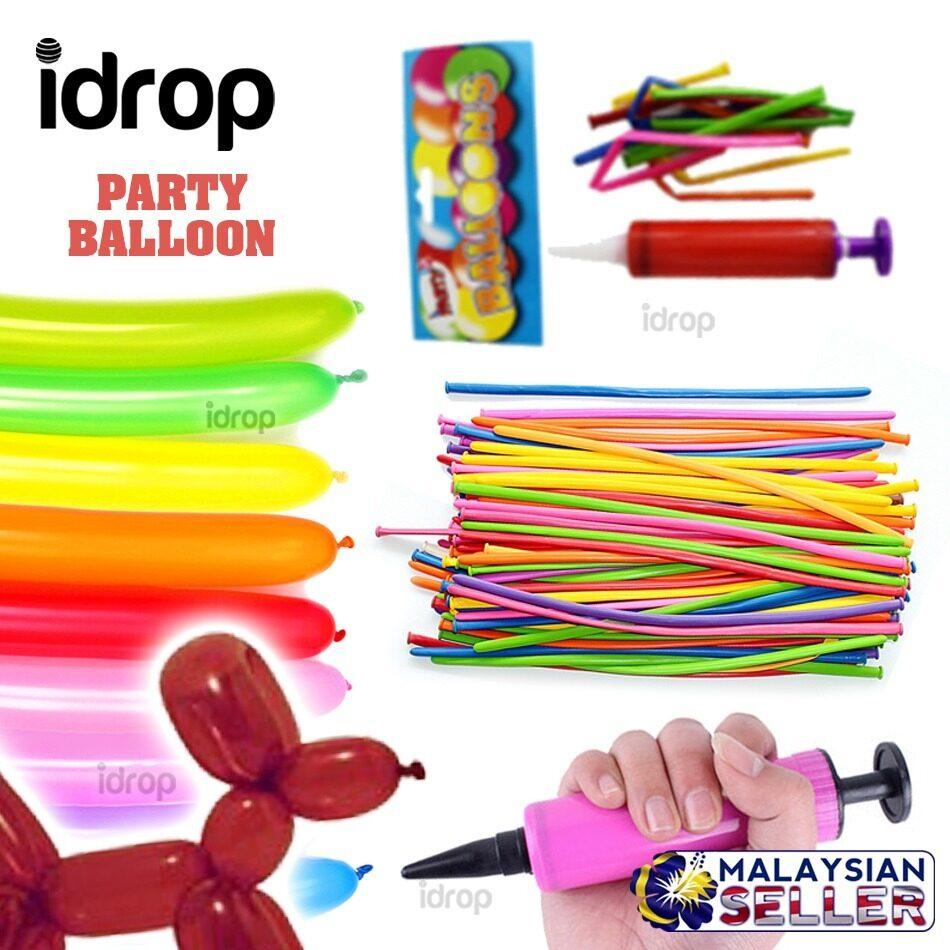 idrop Party Balloon with Air Pump -