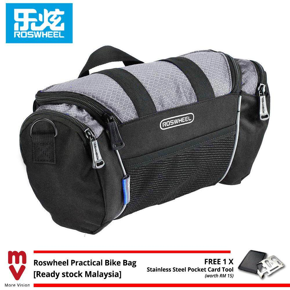 Roswheel Bicycle Bag 5L Cycling Front Handlebar Beg Bike Many Pockets for Storage Tool - MI5212