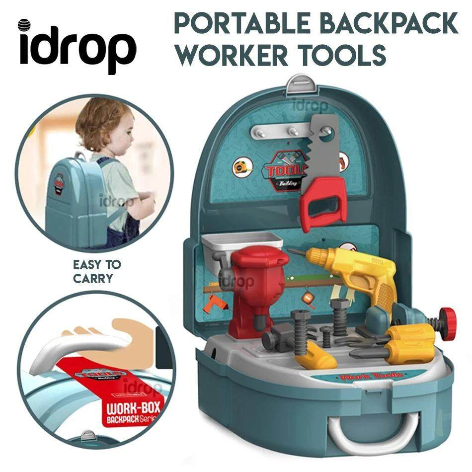 Idrop Portable Backpack Pretend Game The Worker Tool Toy
