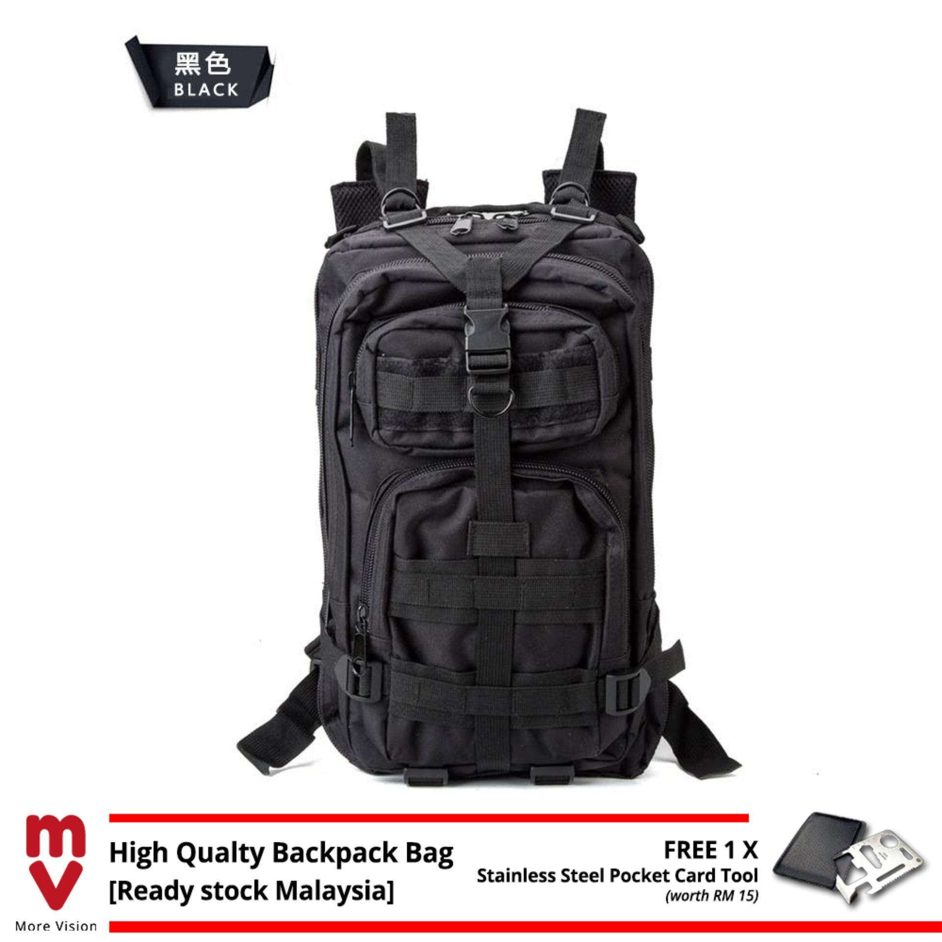 [Attractive Free Gift!] 25L 3P Military Army Tactical Camping Hiking Backpack Bag - MI0111