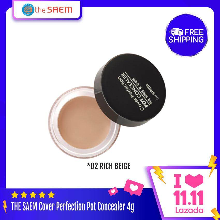THE SAEM Cover Perfection Pot Concealer 4g - 01 Clear Beige
