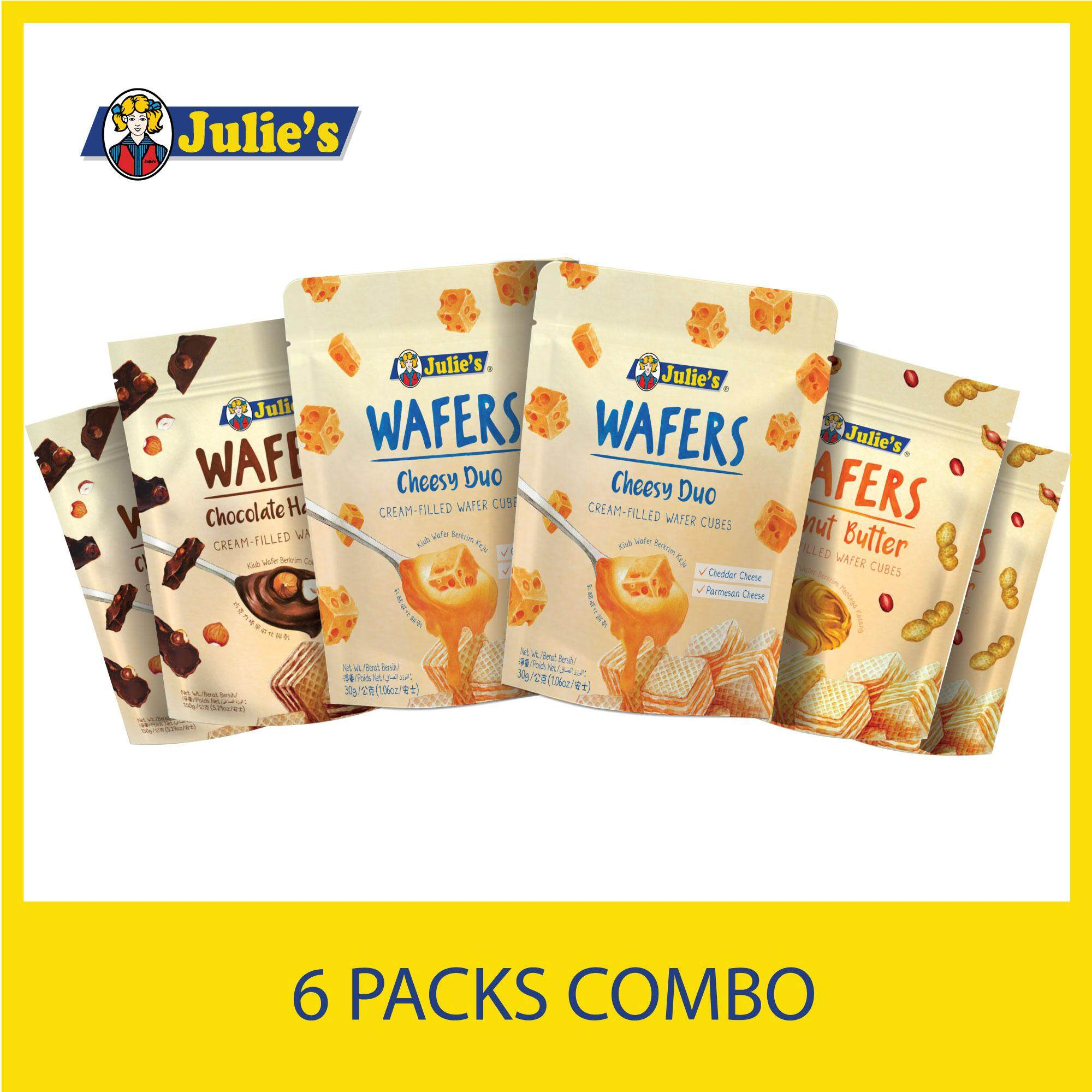 Julie's Wafer Cube's Combo Pack x 6