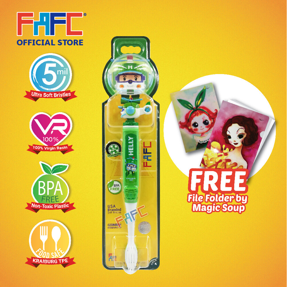 Helly - (1 Pcs) FAFC Poli Figurine Kids Toothbrush