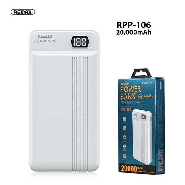 REMAX Power Bank RPP-106 20000mAh  (Fresh Import) New Arrival 100% Original
