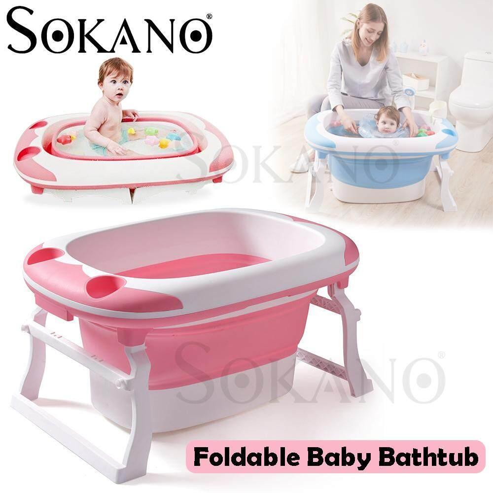 SOKANO AH-833 Foldable Kid Bathtub Baby Bathtub Portable Mini Swimming Pool Kid Infant Toddler Newborn Baby Swimming Deep Tub Bayi Mandi
