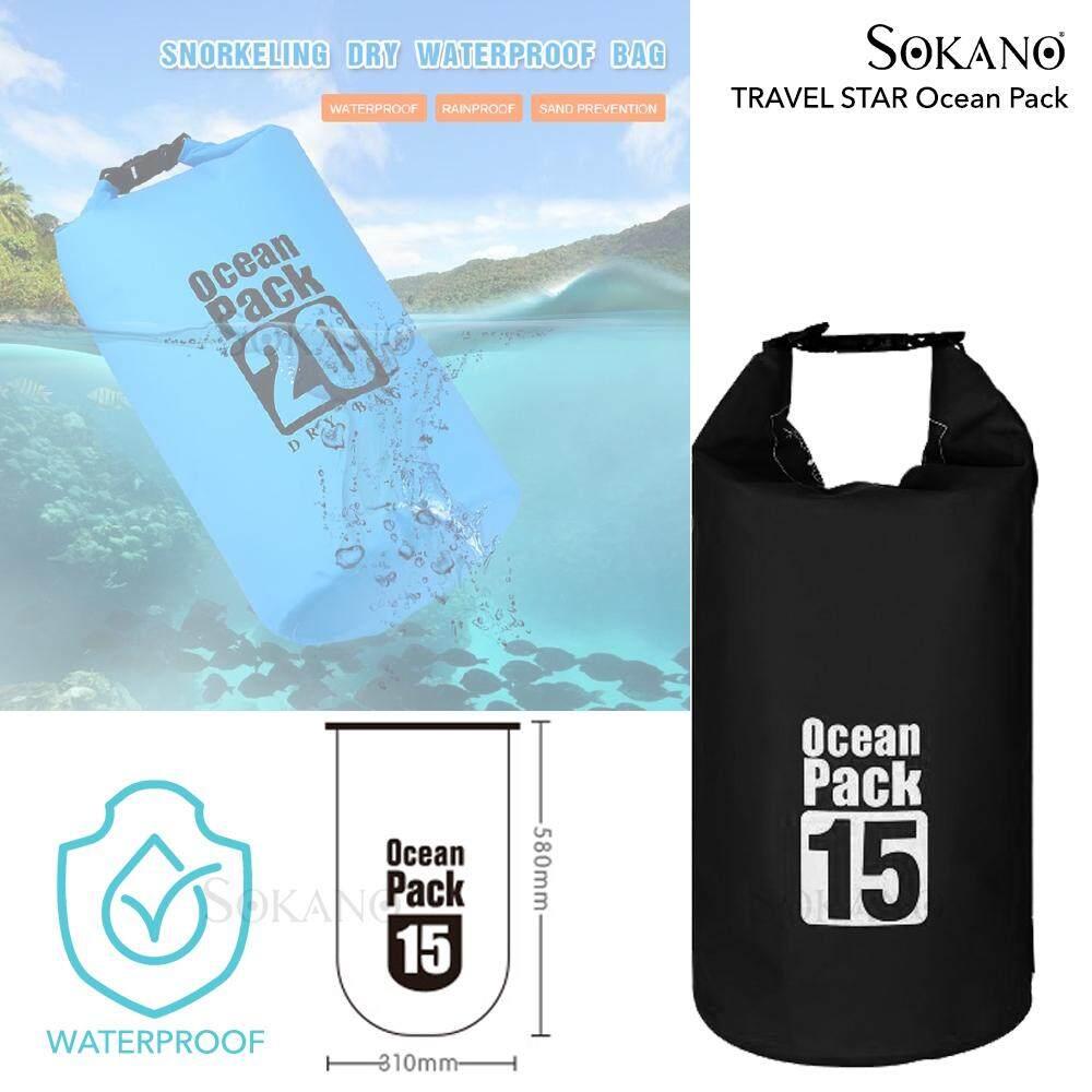 TRAVEL STAR Ocean Pack Waterproof Backpack Extra Thick Waterproof Ocean Diving Dry Bag Travel Outdoor Storage Sea Backpack Beg
