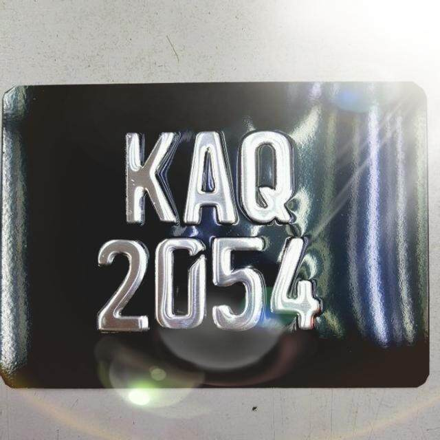 Motorcycle Euro Style Stainless Steel Number Plate