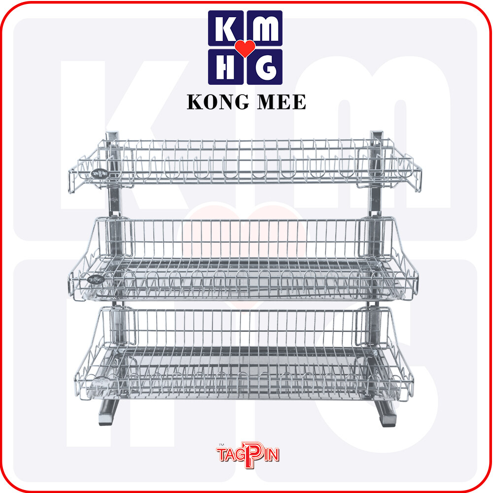 Tagpin - High Quality Stainless Steel 304 Dish Rack with FREE GIFT (TPBLS5603M)  Premium Drying Dishes Cooking Accessories Dapur Masak Makan Rak Kering Pinggan Kitchen Basin Basket Home Living FIxtures Furniture Cook Chef Wash Dishes Luxury