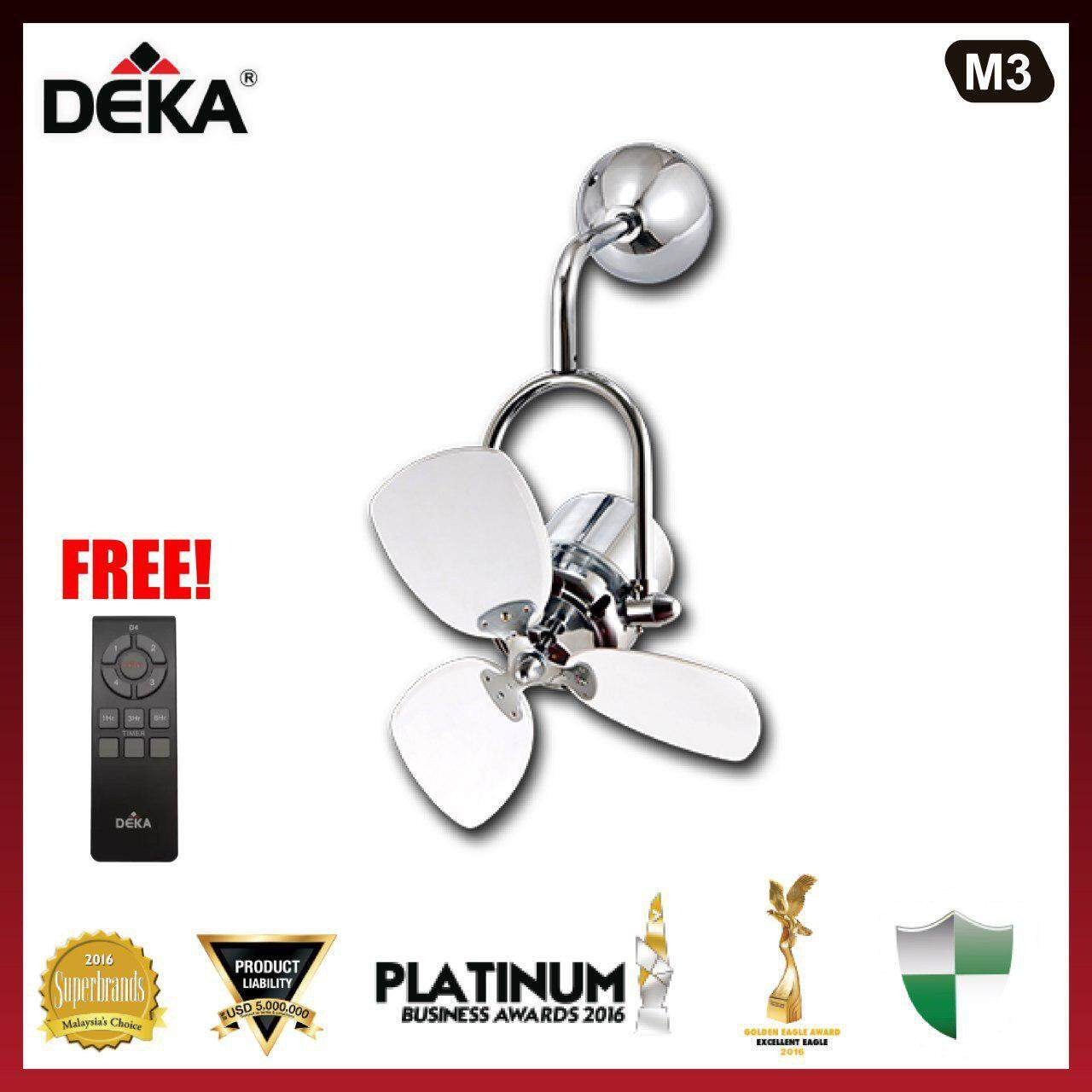 DEKA M3 16  Ceiling Fan with Remote Control Black / White