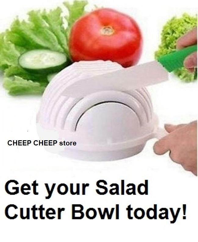 Salad Cutter Bowl – Easy Save Time with Multi Function 60 Second Vegetable Chopper & Salad Maker