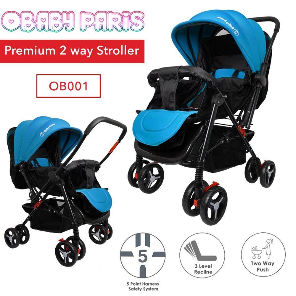 OBaby Paris OB001 Premium 2 Way Reversible Foldable Baby Stroller (1 Year Warranty)