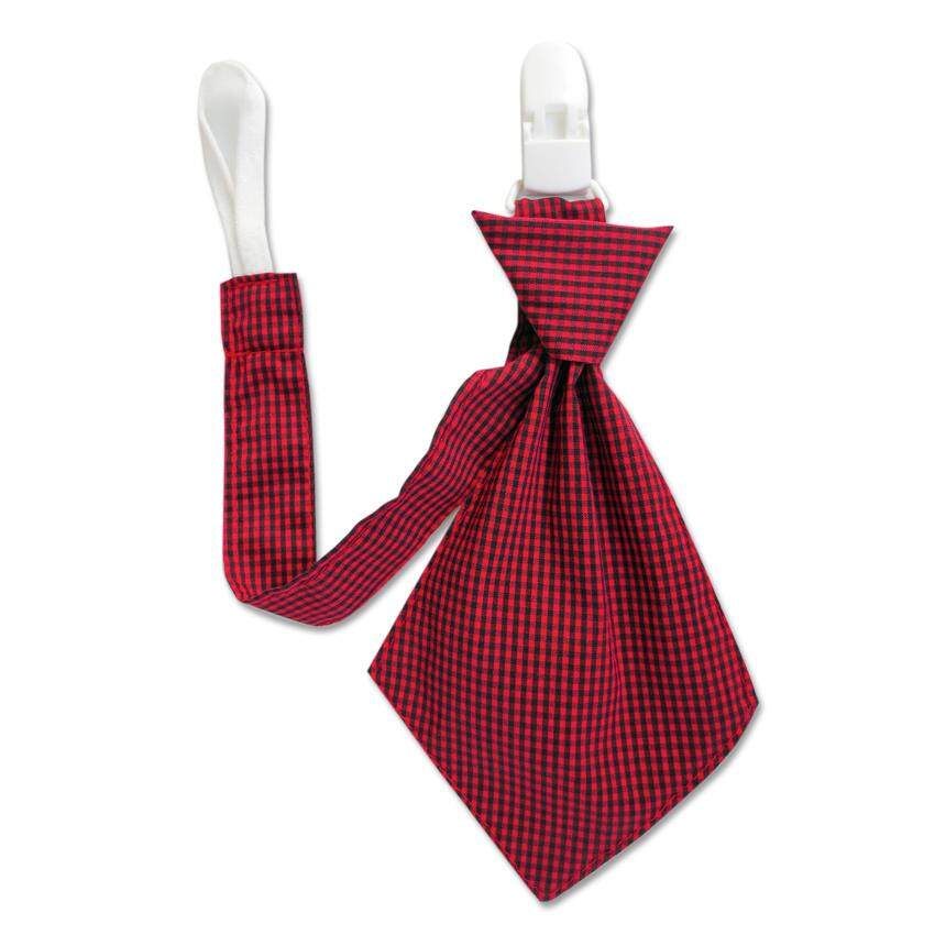 Bumble Bee 1pc Baby Pacifier Clip-Tie (Red Tie)