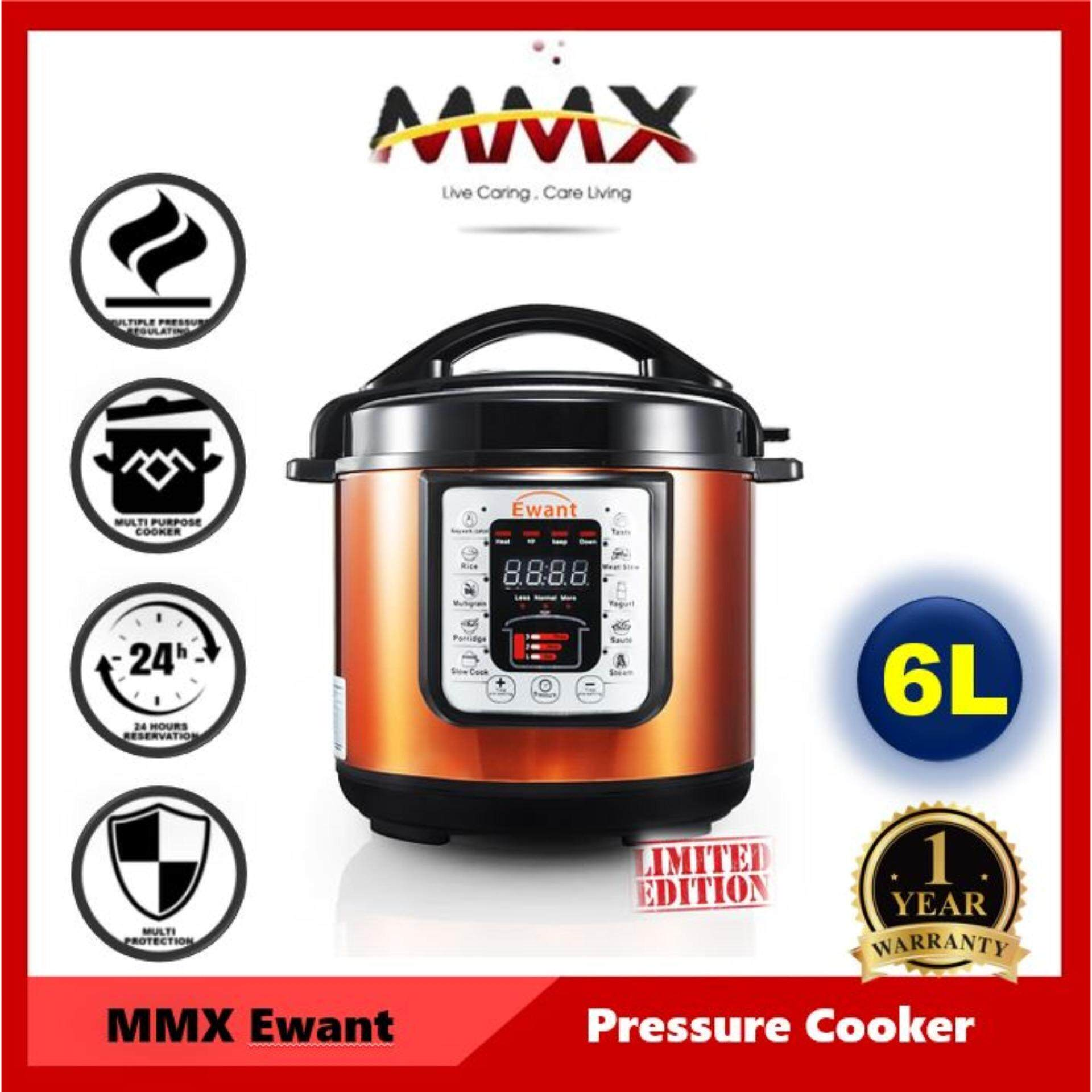 MMX - Ewant 6L Multi-Functional Electric Pressure Cooker (YBD6-100 8-in-1 with Malaysia Plug)