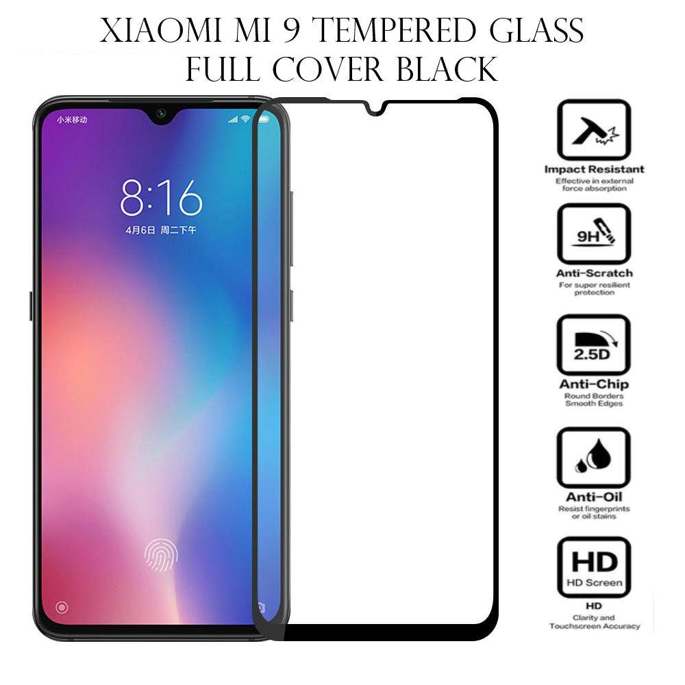 Tempered Glass for Xiaomi Mi 9 - 2.5D Curve Screen Protector [Full Cover Black]