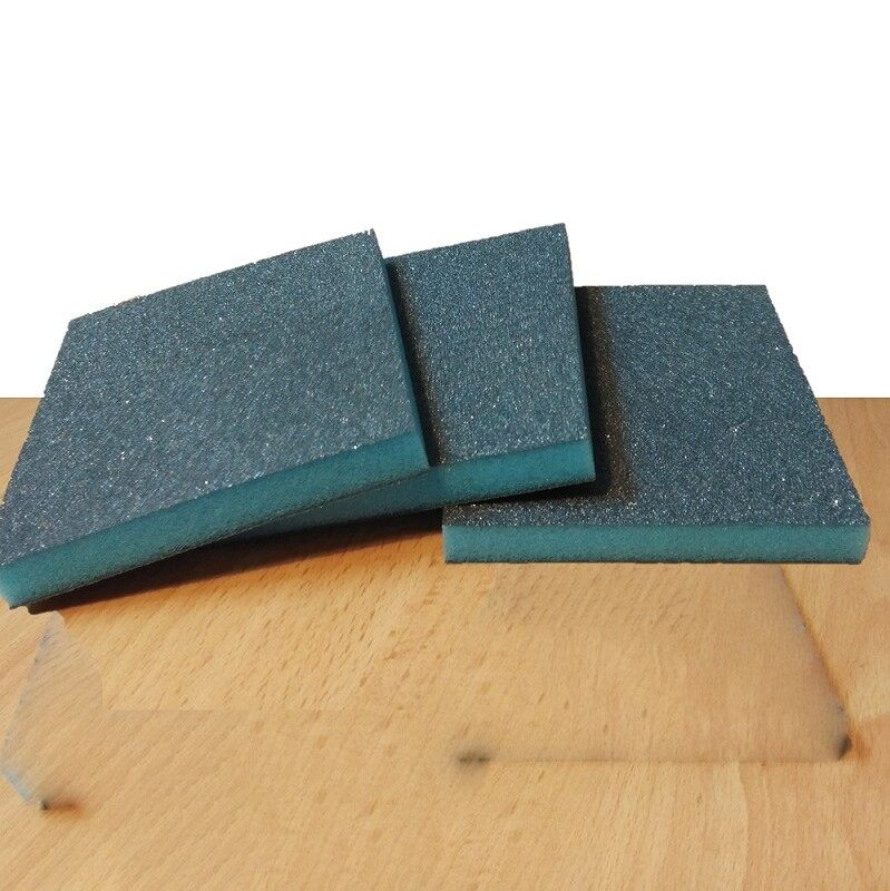 Double Sided Abrasive Sand Paper Liked Cleaning Sponge - set of 3