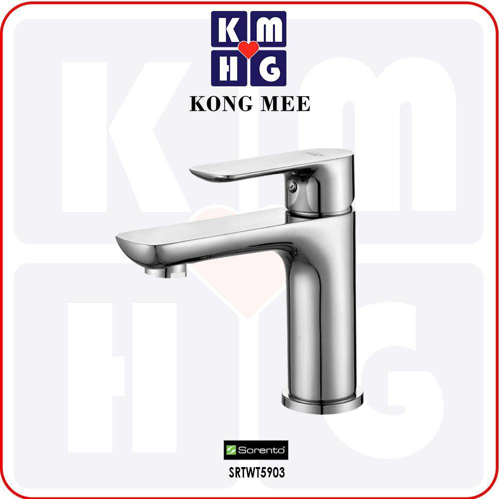Sorento Italy - Hebe 9700 Series Basin Mixer Tap (Hot And Cold Faucet) (SRTWT9702) Pillar Mounted High Quality Aesthetic Modern Luxury Home Bathroom Washroom Bathtub Toilet Wash Hand Wash Face Water Soap Pipe Plumbing Fixtures Furniture