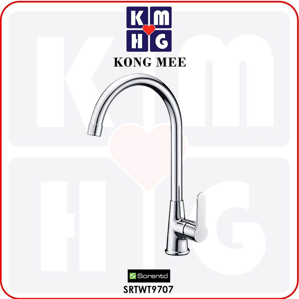 Sorento Italy - Hebe 9700 Series Pillar Mounted Kitchen Mixer Tap (Hot And Cold Sink Faucet) (SRTWT9706) Pillar Mounted Basin Kitchen Counter Modern Luxury Restaurant Home Kitchen Dishwasher Wash Dishes Water Soap Cleaning Plumbing Eat Cook Food Fixtures