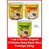 1 set 3 flavour Organic Baby Bario Porridge (Gluten&lactose free) 220G(EXP2021)