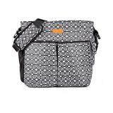 Akarana Baby Te Awa Koru Diaper Bag (Black)