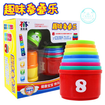 Baylor health colorful puzzle, sets of cups toys of cup