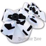 Bumble Bee Newborn Bootees White Chenille