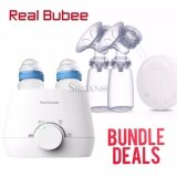 Bundle Deal - Real Bubee Anti Bacterial Baby Milk And Food Warmer + Electric Automatic Dual Breast Pump With 2 Baby Bottles