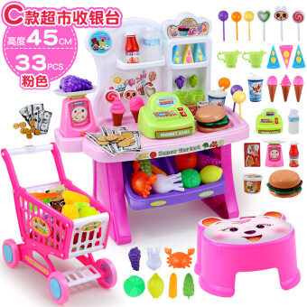 Children's Educational toys girl cooking kitchen tableware suit music Kitchen toys over every family cash register table toys