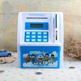 Kids Mini Electronic Money Bank Coin Cash Saving Box Code Password Simulation ATM Creative Gift Toy - BLUE toys for girls -