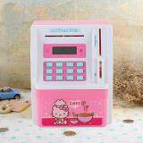 Kids Mini Electronic Money Bank Coin Cash Saving Box Code Password Simulation ATM Creative Gift Toy - PINK toys for girls -