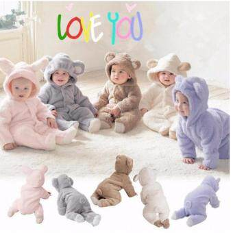 New Clothes Romper Hooded Jumpsuit Bodysuit Outfits for Baby InfantBoy Girl, Comfortable & Warm