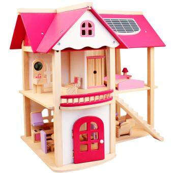 Over every family villa doll house birthday gift DIY toys